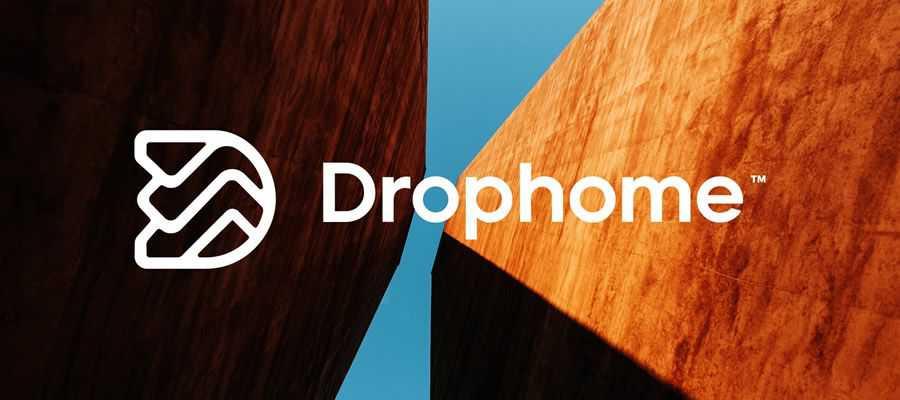 drophome simple logo design inspiration