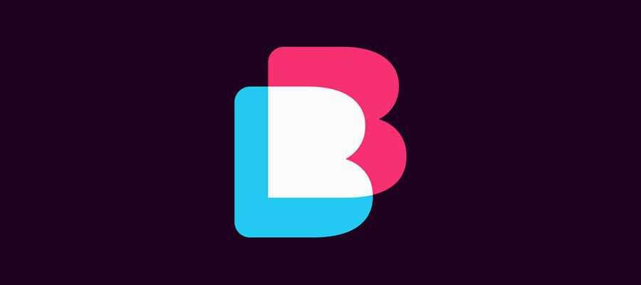 Overlap B Logo Mark simple logo design inspiration