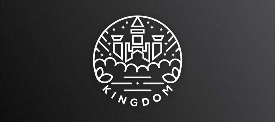 Lineart Kingdom simple logo design inspiration