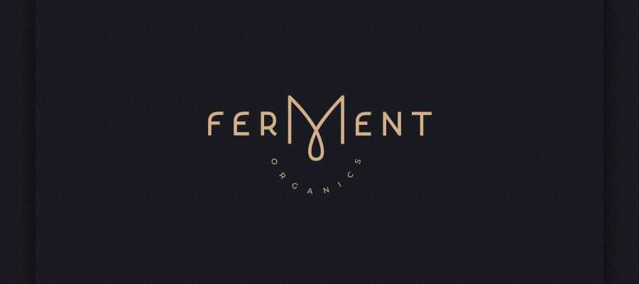 Ferment Organics simple logo design inspiration