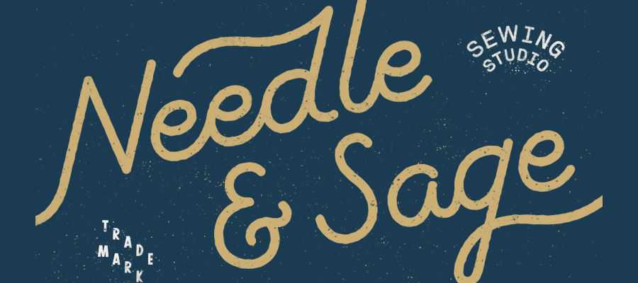 Needle Sage simple logo design inspiration