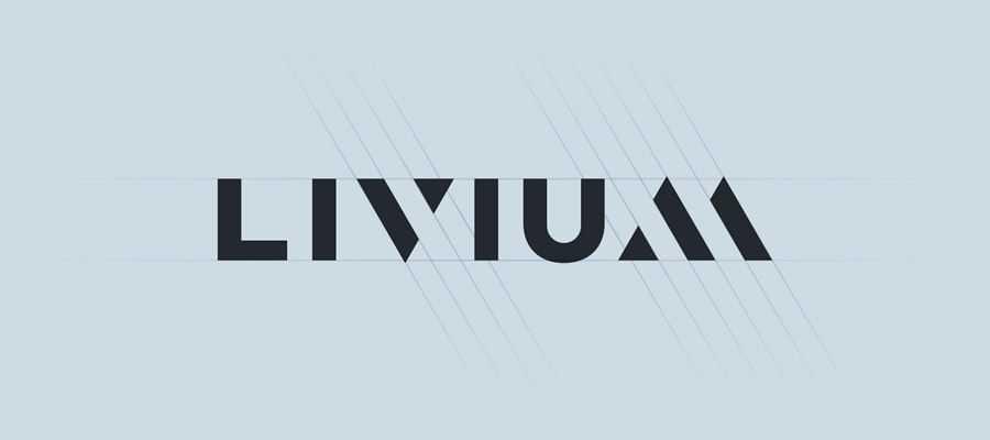 Livium simple logo design inspiration
