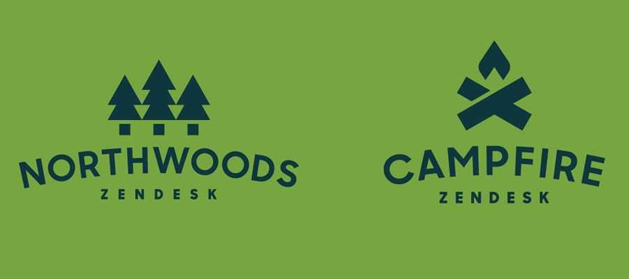 Zendesk Northwoods Teams simple logo design inspiration