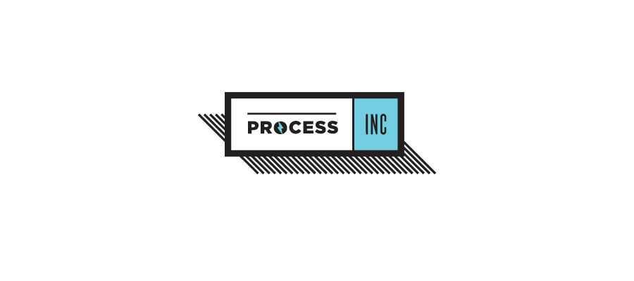 Process Inc simple logo design inspiration