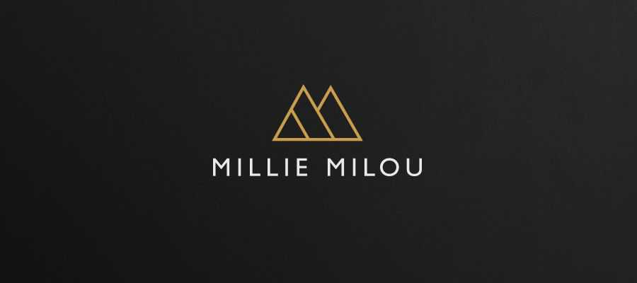 Millie Milou Fashion simple logo design inspiration