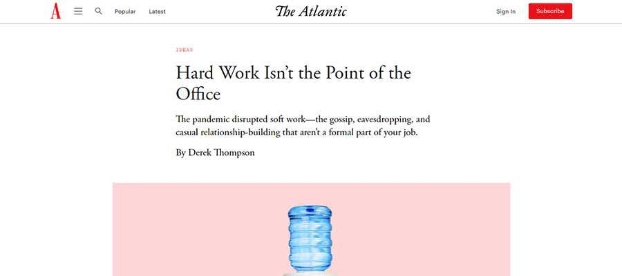 Example from The Atlantic's website.