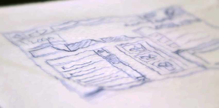 Web Design Scribbled on Napkin