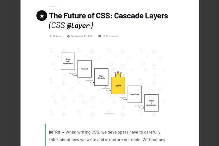 Example from The Future of CSS: Cascade Layers