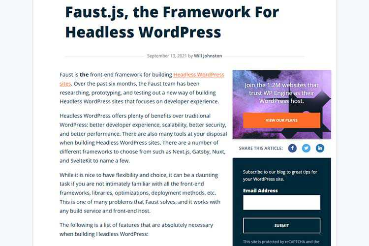 Example from Faust.js, the Framework For Headless WordPress
