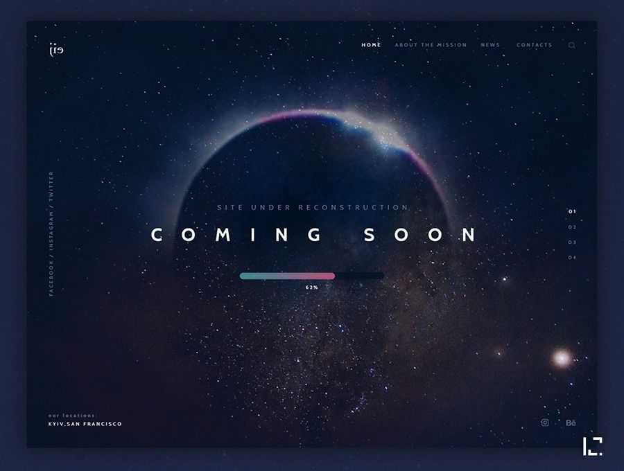 concept coming soon page web design inspiration