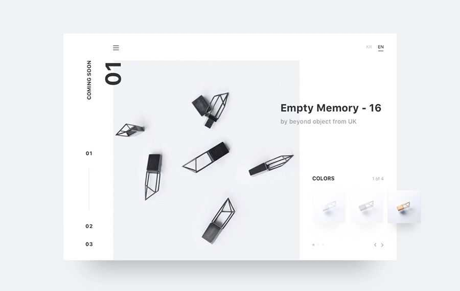Minimal come up with quick web design inspiration page