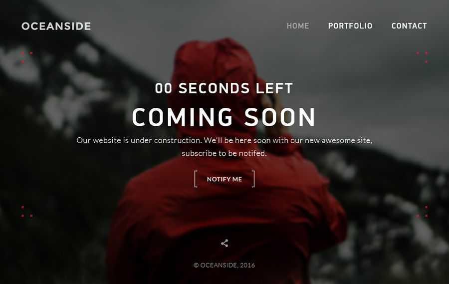 OceanSide HTML Template coming soon inspired web design