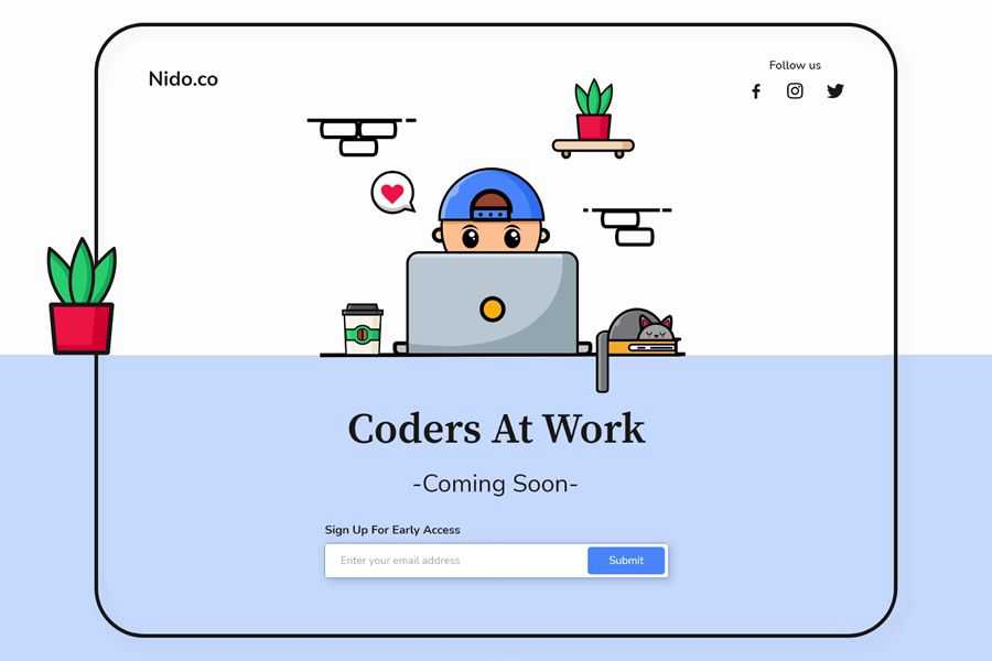Work Coders will be coming soon for web design inspiration