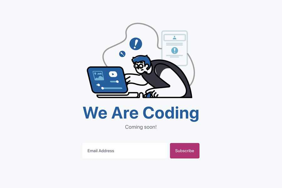 Our Coding Ideas will come soon with web page design inspiration