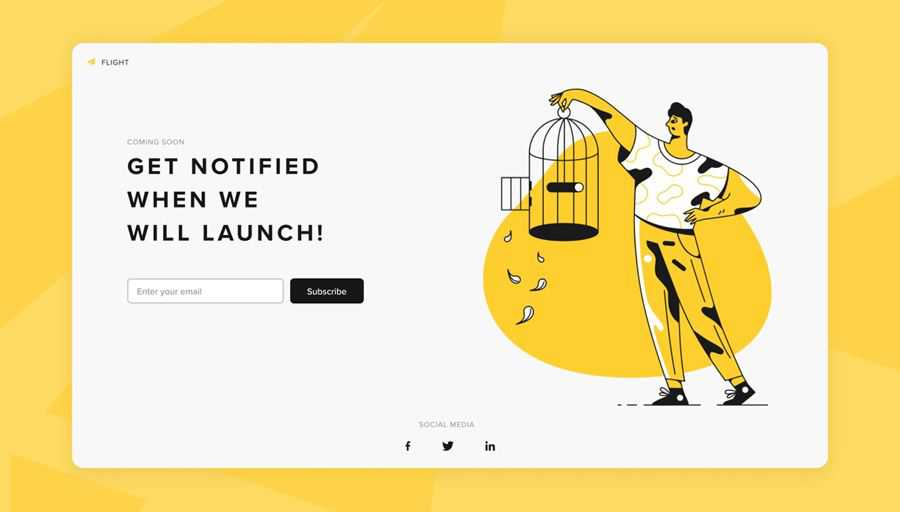 Coming quickly to the web design inspiration page