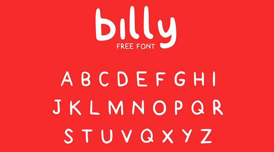 Billy Free quirky creative font family typeface