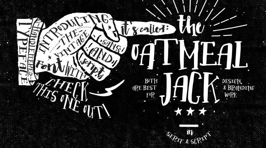 Oatmeal Jack quirky creative font family typeface
