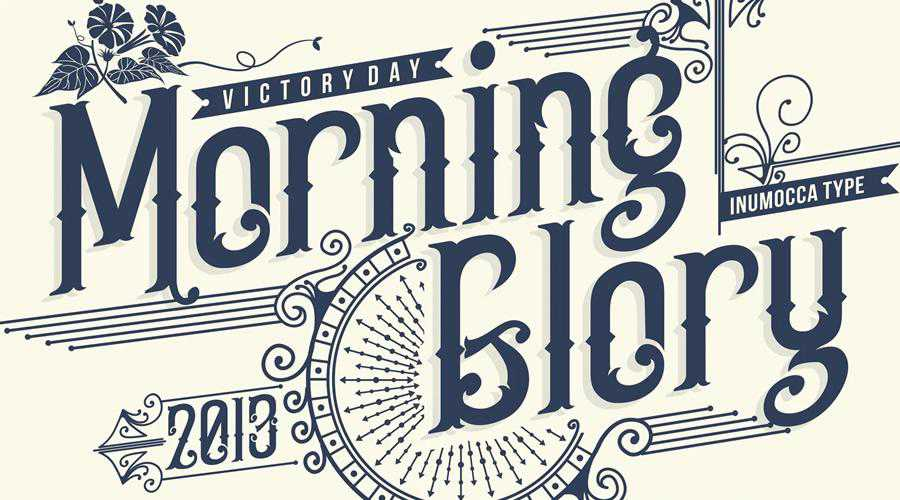 Morning Glory quirky creative font family typeface