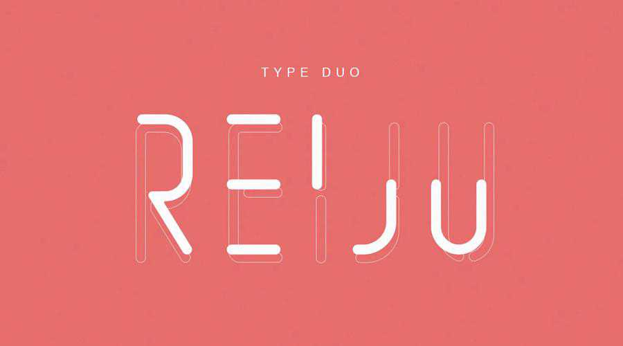 Reiju quirky creative font family typeface