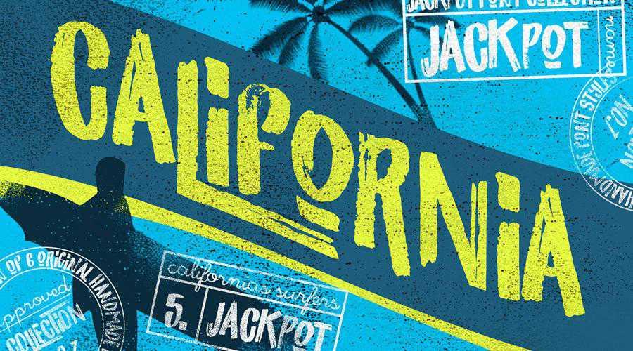 California Jackpot quirky creative font family typeface