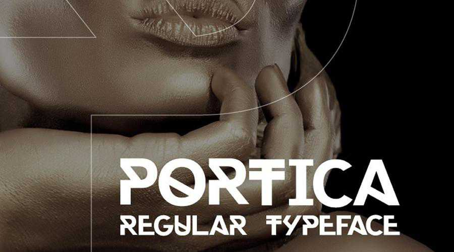 Portica Regular quirky creative font family typeface