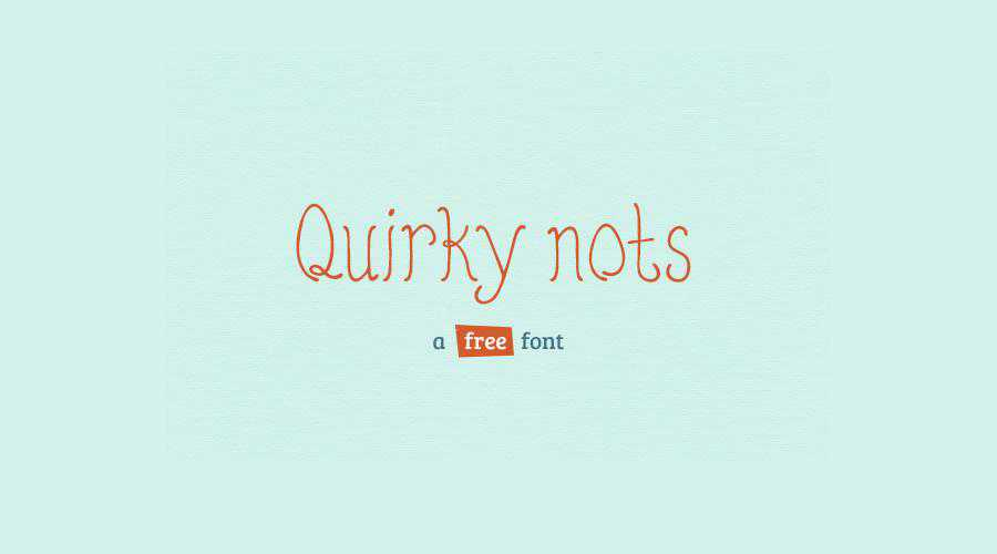 Quirky Nots quirky creative font family typeface
