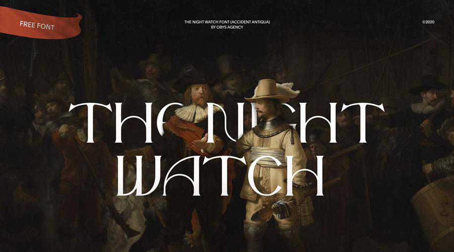 The Night Watch Free quirky creative font family typeface