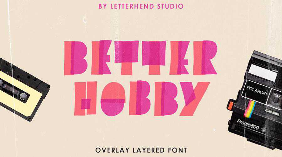 Better Hobby Free Display quirky creative font family typeface