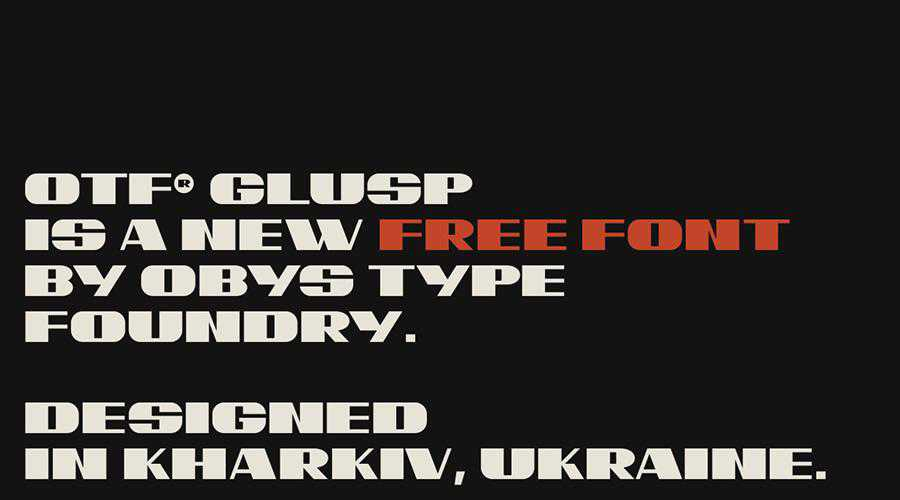 OTF Glusp Free quirky creative font family typeface