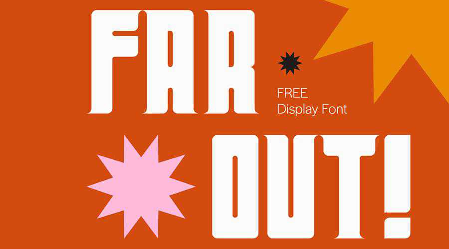 Far Out Free Display quirky creative font family typeface