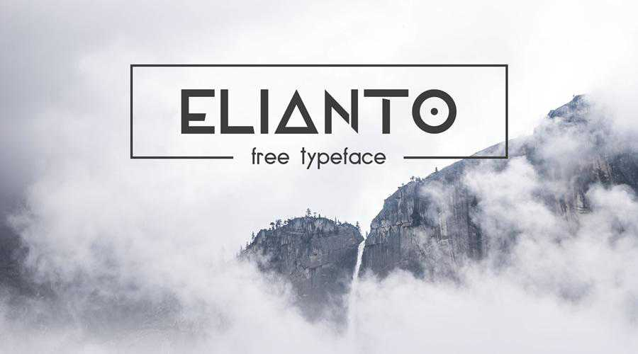 Elianto Free quirky creative font family typeface