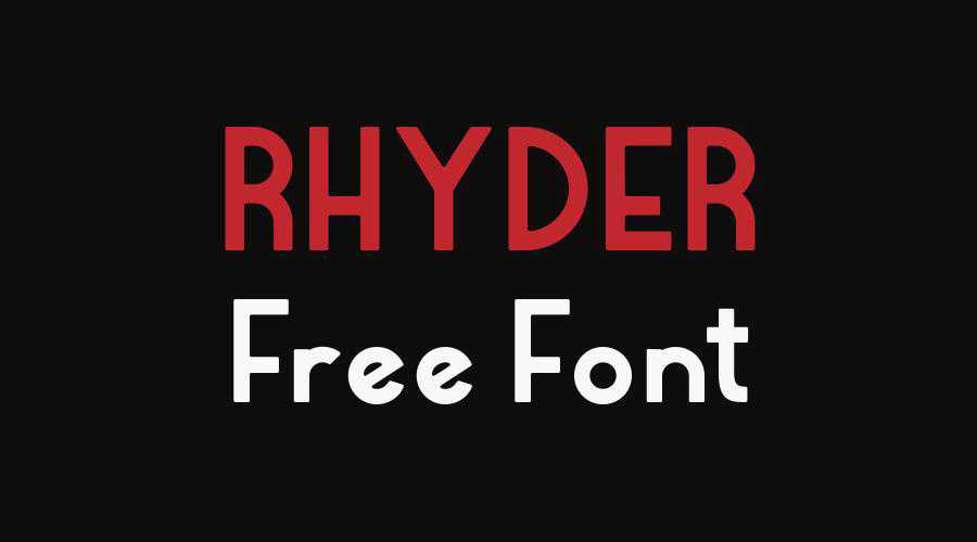 Rhyder Free quirky creative font family typeface
