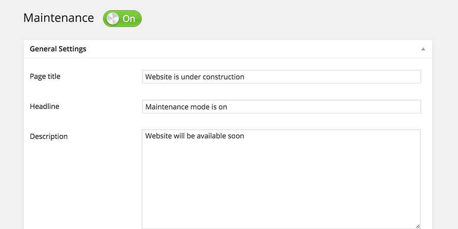 Maintenance Mode WordPress Plugin